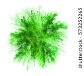 explosion of green powder ...   Shutterstock . vector #573252265