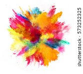 explosion of colored powder ... | Shutterstock . vector #573252325