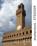 palazzo vecchio in florence... | Shutterstock . vector #57325339