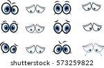 eyes cartoon   Shutterstock .eps vector #573259822