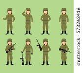 soldier character vector... | Shutterstock .eps vector #573263416