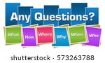 any questions colorful squares... | Shutterstock . vector #573263788