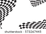 checkered racing flag isolated... | Shutterstock .eps vector #573267445