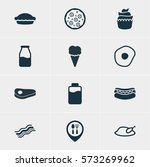 vector illustration of 12 meal... | Shutterstock .eps vector #573269962