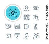 vector illustration of 12 data... | Shutterstock .eps vector #573275086