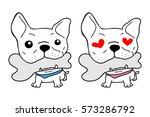 cute french bulldog vector... | Shutterstock .eps vector #573286792