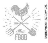 Farm Logo With A Rooster And A...
