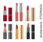 set of realistic lipsticks ... | Shutterstock .eps vector #573296416