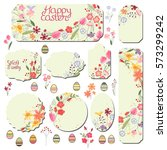 set with floral templates.... | Shutterstock .eps vector #573299242