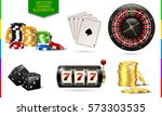 casino icon isolated on white... | Shutterstock .eps vector #573303535