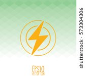 flash vector line icon. flat... | Shutterstock .eps vector #573304306
