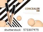 cosmetic product concealer... | Shutterstock .eps vector #573307975