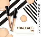 cosmetic product concealer... | Shutterstock .eps vector #573308032