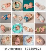 Collage Of A Sweet Newborn...
