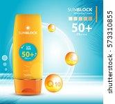sunblock ads template  sun... | Shutterstock .eps vector #573310855