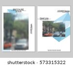 vector brochure cover templates ... | Shutterstock .eps vector #573315322