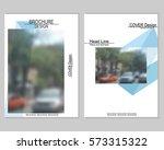 vector brochure cover templates ... | Shutterstock .eps vector #573315322