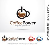 coffee power logo template... | Shutterstock .eps vector #573315442