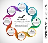 abstract options infographics... | Shutterstock .eps vector #573318826
