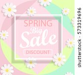 modern geometric pastel spring... | Shutterstock .eps vector #573319696