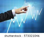 businessman with financial... | Shutterstock . vector #573321046