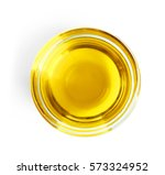 top view of glass with olive... | Shutterstock . vector #573324952