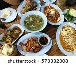 spicy thai foods | Shutterstock . vector #573332308