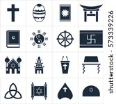 icons set religions | Shutterstock .eps vector #573339226