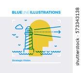 blue line illustration concept... | Shutterstock .eps vector #573343138