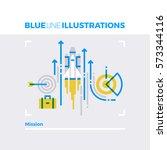 blue line illustration concept... | Shutterstock .eps vector #573344116