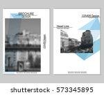 vector brochure cover templates ... | Shutterstock .eps vector #573345895