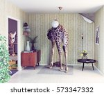 Giraffe In The Living Room....