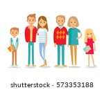 set of young people  seniors... | Shutterstock .eps vector #573353188