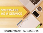 software as a service   linear... | Shutterstock . vector #573353245