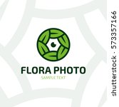 flora photo logo design... | Shutterstock .eps vector #573357166