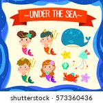 under the sea merman and...