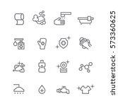 hygiene icons set vector   Shutterstock .eps vector #573360625