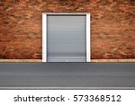roller shutters the factory... | Shutterstock . vector #573368512
