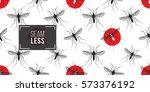 zika virus malaria alert. hand... | Shutterstock .eps vector #573376192