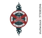 chopper club motorbike... | Shutterstock . vector #573381046