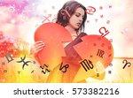 astrology  twelve zodiac signs | Shutterstock . vector #573382216