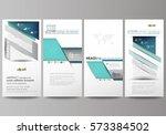 flyers set  modern banners.... | Shutterstock .eps vector #573384502
