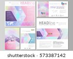 social media posts set.... | Shutterstock .eps vector #573387142