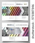 business templates for bi fold... | Shutterstock .eps vector #573387346