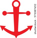 sea anchor red color vector | Shutterstock .eps vector #573387652