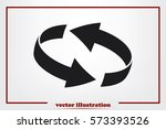 rotation arrows icon vector... | Shutterstock .eps vector #573393526