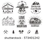 set of mountain explorer... | Shutterstock .eps vector #573401242