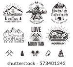 set of mountain explorer... | Shutterstock .eps vector #573401242