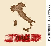 italy distressed map. grunge... | Shutterstock .eps vector #573404386