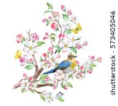 Watercolor Spring Card Blossom...